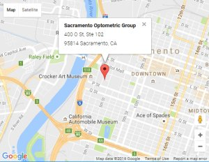 map of sacramento where our optometrist is